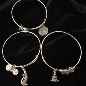 Set of 3 Alex and Ani bracelets